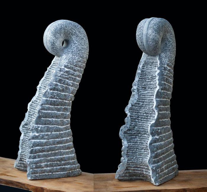 Skulptur Farn aus St.Michel Kalkstein