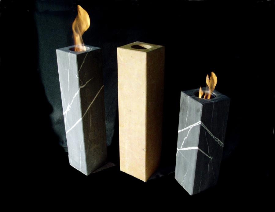 Bioethanol Feuersäulen