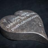 Herz aus St.Michel Kalkstein