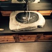 Kieselkalk Waschbecken 2